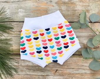 Rainbow Hearts Baby Shorts