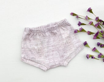 Mauve Pink Baby Bummies, Baby Shorts, Shorties, Diaper Cover, Bloomers