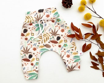 Fall Leaves Baby Pants, Gender Neutral Kids Pants, Baby Leggings, Baby Joggers, Unisex Kids