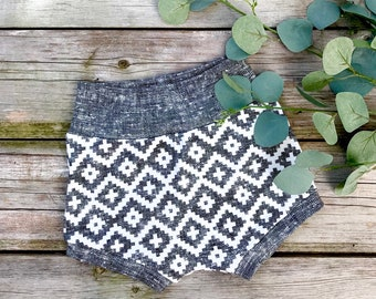 Southwestern Baby Shorts, Aztec Organic Baby Shorts, Shorties, Autumn, Fall Baby Clothes, Kids Shorts