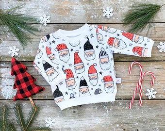 Santa Baby Sweatshirt / Christmas Organic Baby Pullover / Winter Kids Sweatshirt / Unisex Kids Top / Toddler Shirt