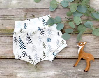 Woodland Baby Shorts, Organic Baby Shorts, Shorties, Autumn, Fall Baby Clothes, Kids Shorts