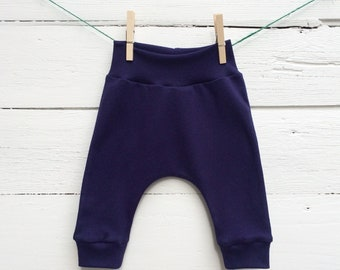Navy Blue Baby Pants, Baby Leggings, Kids Harem Pants, Winter Kids Pants, Unisex Kids Pants, Gender Neutral Baby Clothes