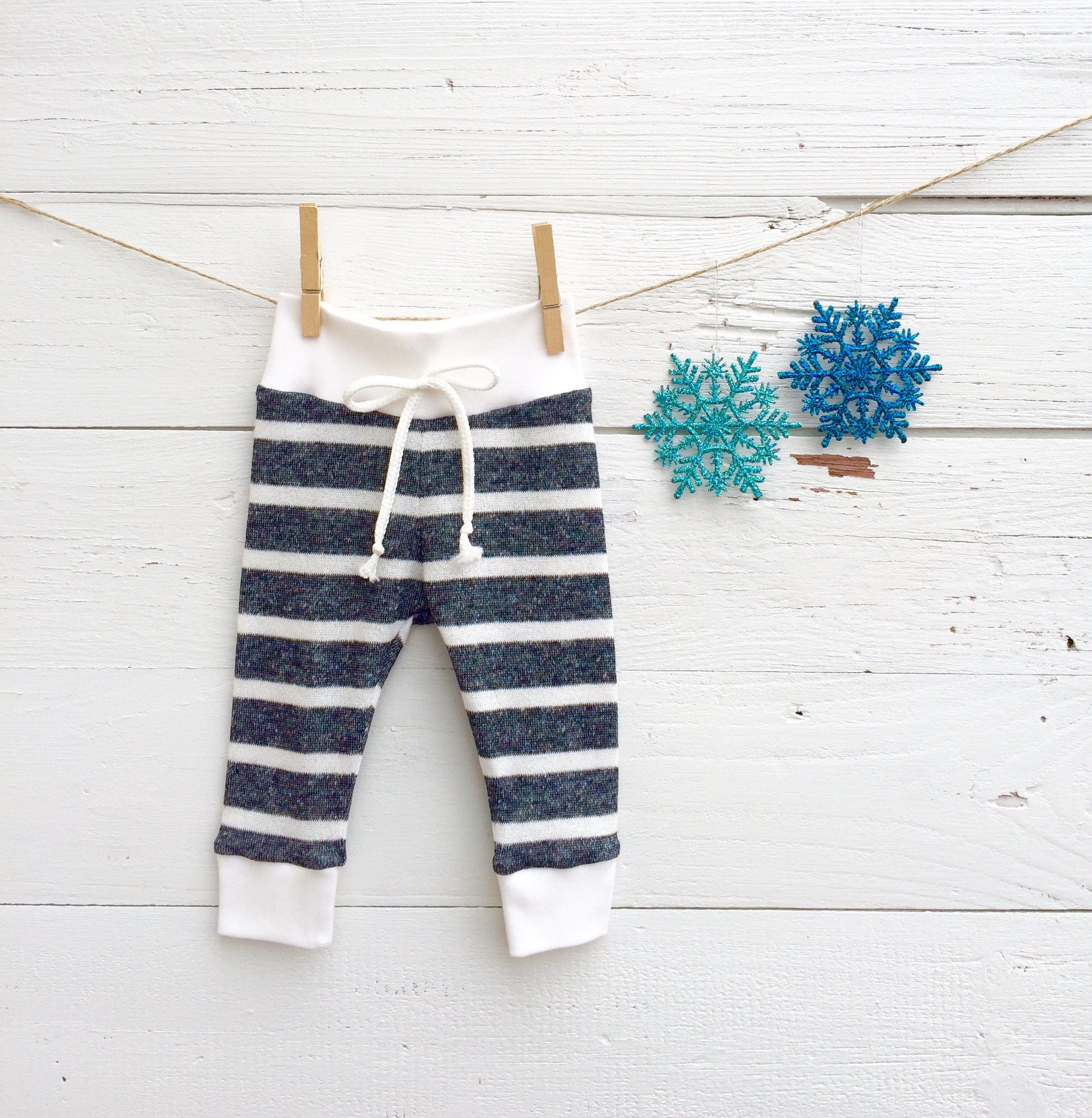 2a6e3638df400 Dark Grey Stripe Baby Pants, French Terry Baby Leggings, Charcoal Gray and  White Stripe Baby Pants, Baby Leggings, Gender Neutral Baby