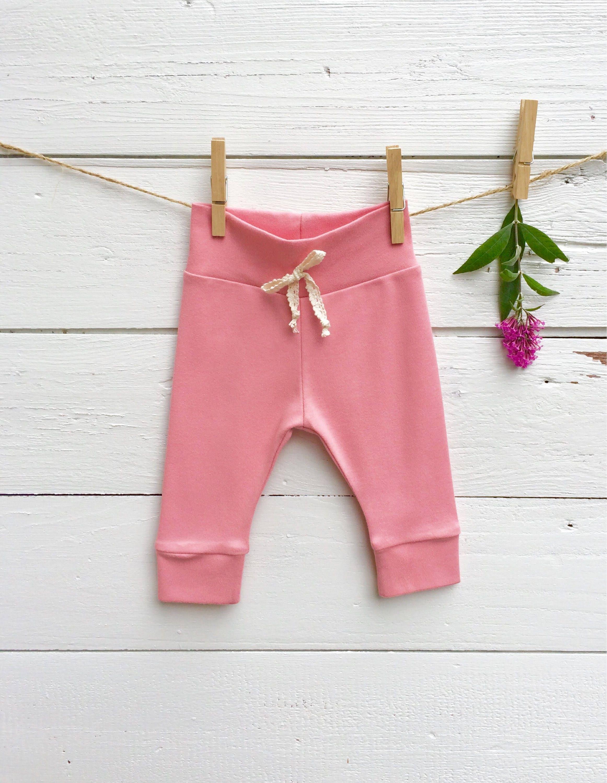 ad4c102d3 Rose Pink Leggings, Valentine Baby Leggings, Solid Color Baby Pants, Baby  Leggings, Knit Baby Pants, Baby Girl Pants, Newborn Leggings
