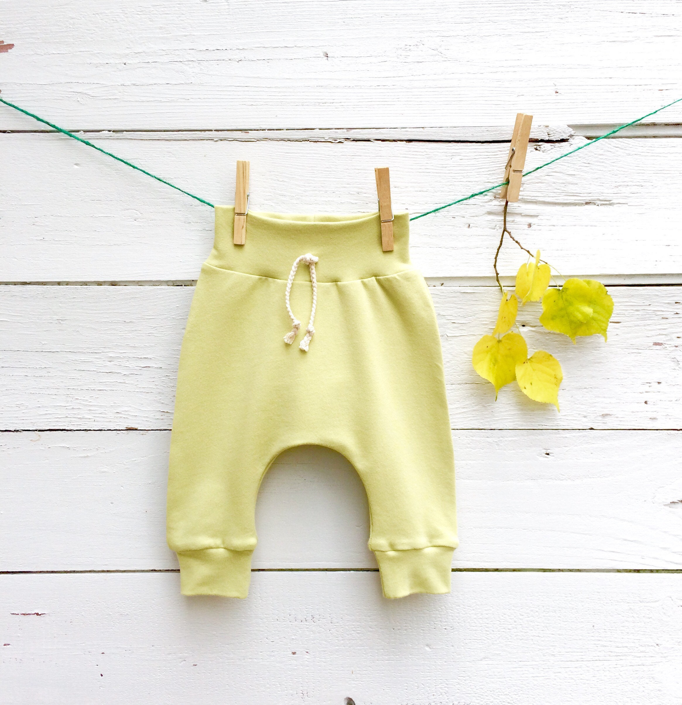 Avocado Green Baby Pants, Baby Leggings, French Terry Pants, Solid Color  Leggings, Kids Harem Pants, Unisex Baby Clothes, Light Olive Green