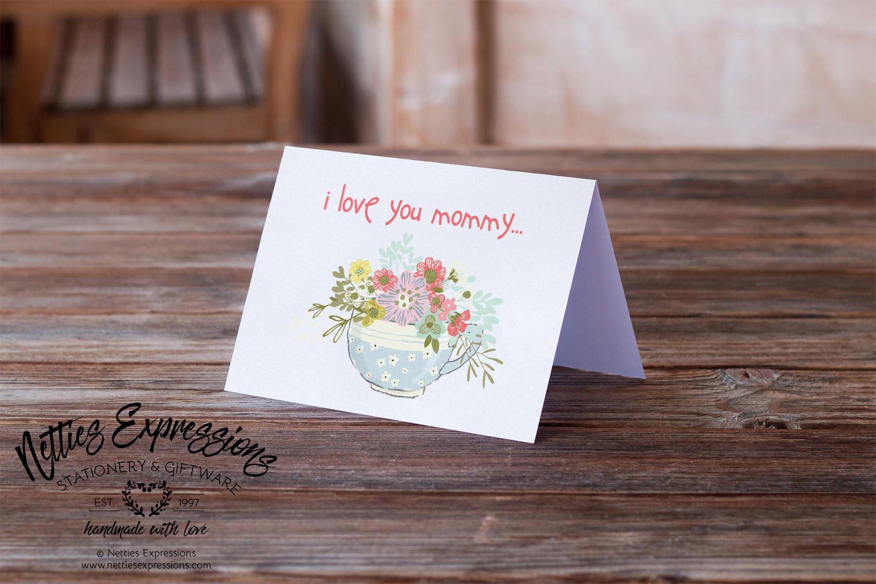 I Love You Mommy Birthday Card Greeting Card Mom Card Etsy