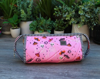 Spooky and Sweeter Sew Together Bag   project bag   makeup bag   toiletry bag   travel bag   large zipper pouch   Halloween