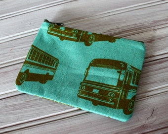 Echino Buses Coin Purse with canvas lining