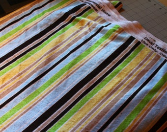 Destash Fabric, Striped Minky David Textiles