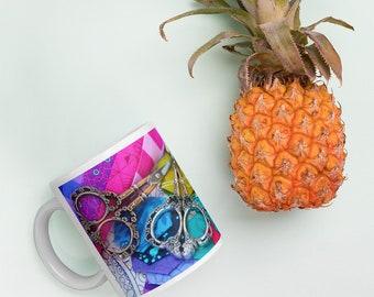 Rainbow Scissors Mug