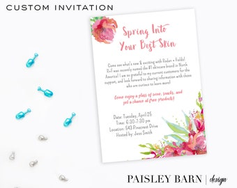 Spring Into Your Best Skin Invite   Printable Digital File   Skincare, Printed, BBL, Happy Hour, girls night, invitation, shop,