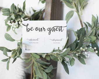 "INSTANT DOWNLOAD ""Be our Guest"" Wifi Printable 