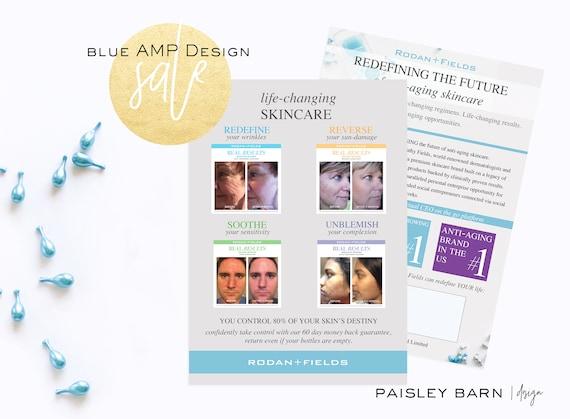 SALE! Marketing CARDS 5x7 | Skincare business  Rodan+Fields personalized | R+F anti-aging fliers flyer #1 skincare premium acne