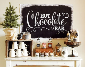 Chalkboard Hot Chocolate Bar - FULL Collection - INSTANT DOWNLOAD
