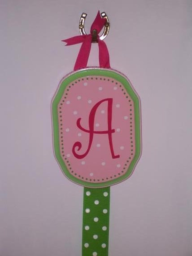 Hair Bow Holder Hand Painted Personalized image 0