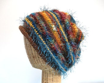 Hat Womens Autumn Colors Slouchy Knit Wool Cap