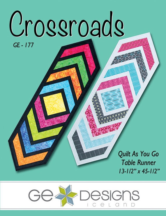 Crossroads Table Runner Pattern Quilt As You Go Etsy