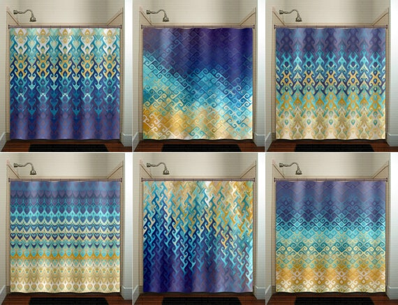 Nautical Ocean Beach House Shower Curtain Extra Long Fabric Etsy