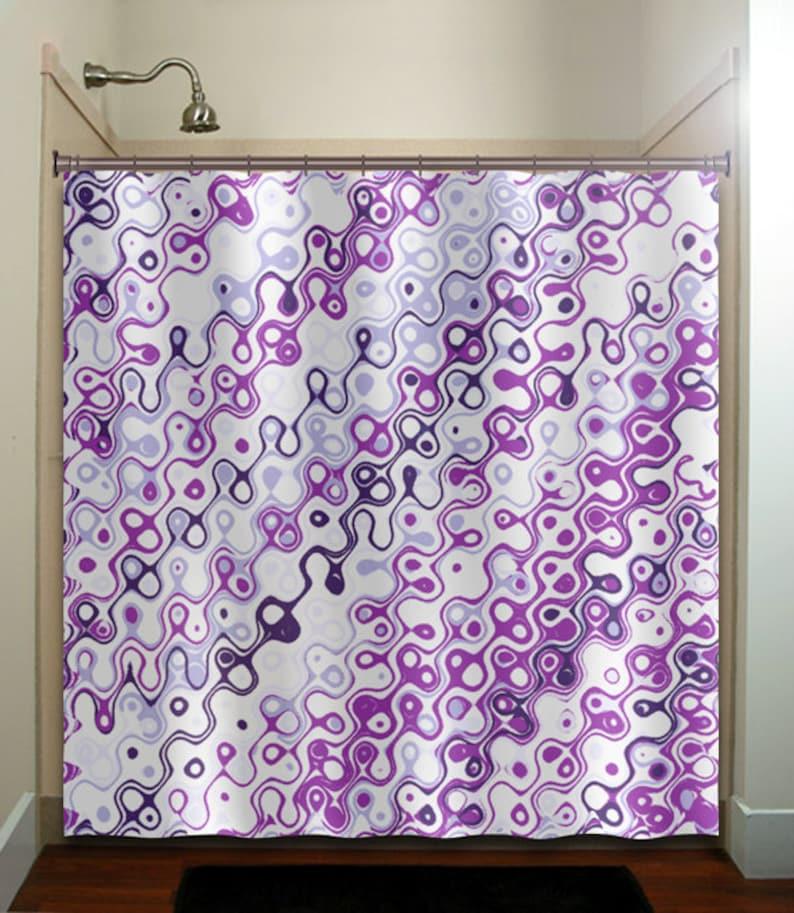 Eggplant Purple Violet Aubergine Shower Curtain Extra Long Fabric Window Panel