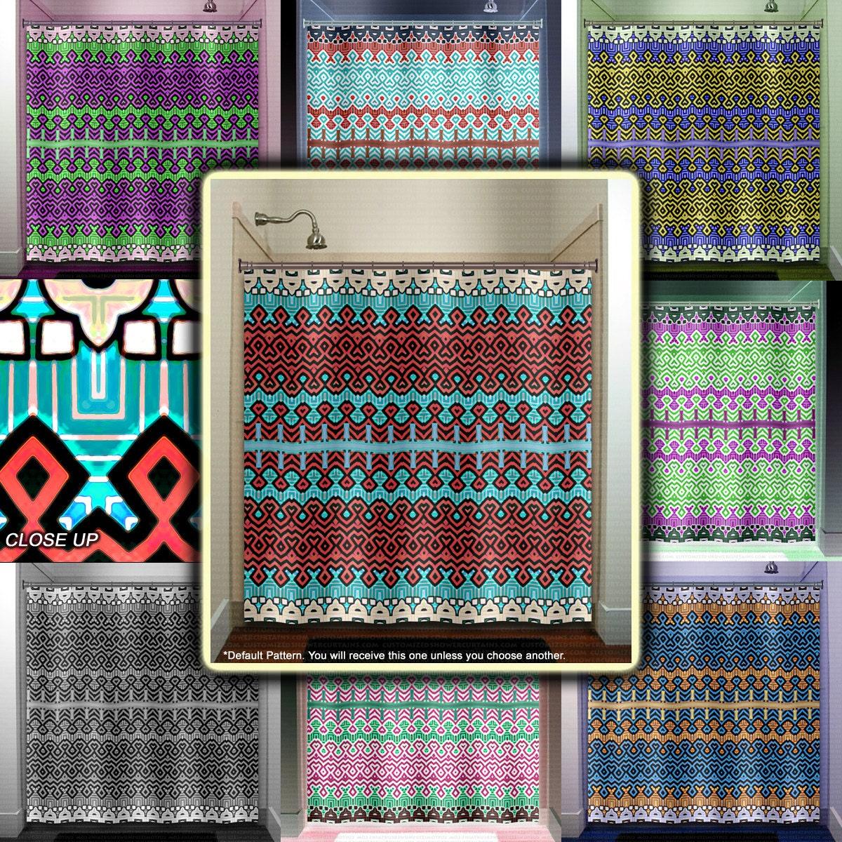 Bathroom Rugs Persian: Modern Persian Rug Greek Shower Curtain Extra Long Fabric