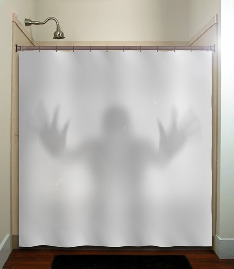 Scary Ghost Halloween Shower Curtain Extra Long Fabric Window Panel Kids Bathr