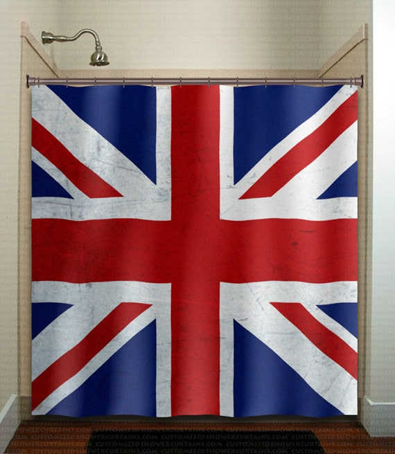 United Kingdom UK Union Jack England Flag Shower Curtain