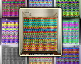 pride colors rainbow shower curtain, extra long fabric window panel, kids bathroom decor, custom valance bathmat, personalize