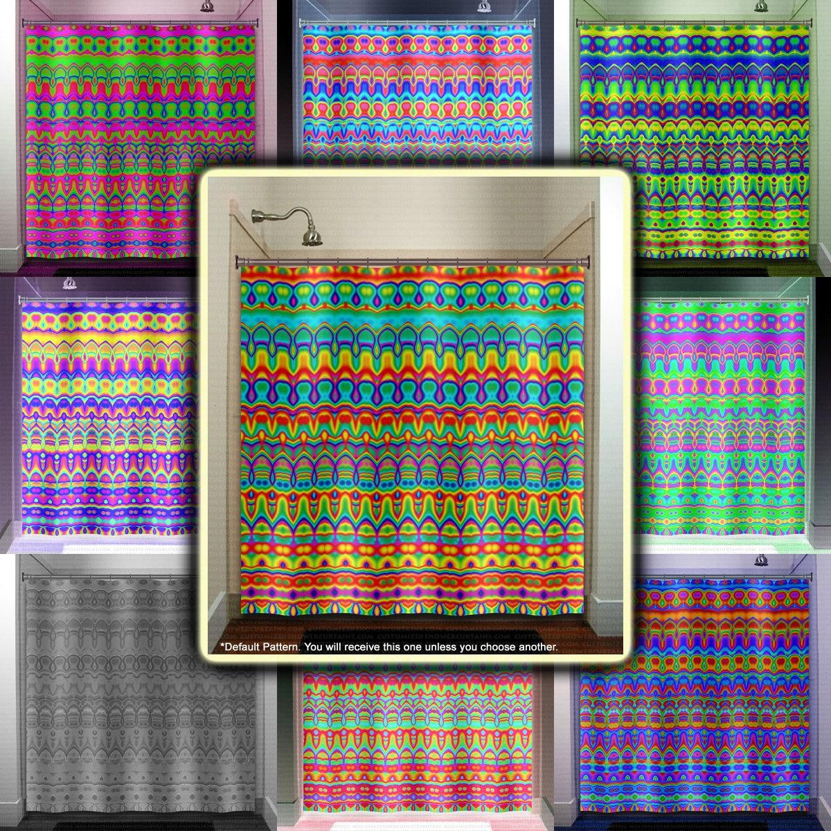 Pride Colors Rainbow Shower Curtain Extra Long Fabric Window Panel Kids Bathroom Decor Custom Valance Bathmat 84 96 Inch Stall 108 90 78