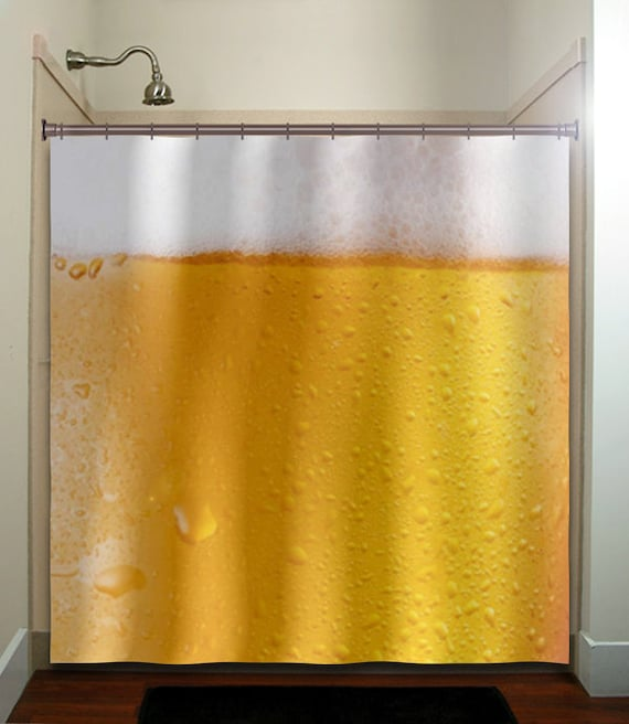 Frothy Beer Shower Curtain Extra Long Fabric Window Panel