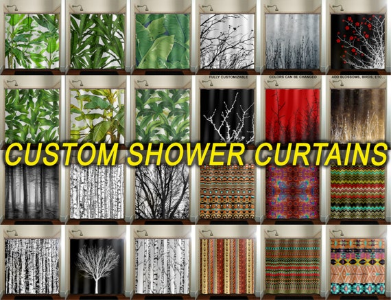 Extra Long Shower Curtain Custom Size Wide Tall Length