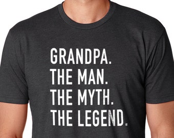 Grandpa Shirt for Grandpa The Man The Myth The Legend Grandpa T Shirt Fathers day Gift Husband Gift Grandpa Gift Funny T shirts