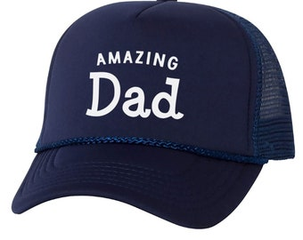 9dbac1320b435f Dad Hat Cap Amazing Dad Fathers Day Gift Cap for Dad Father Trucker Hat  Papa Gift Cool Fathers Day Hat Cap Husband Hat