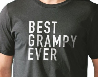 Grampy Shirt Best Grampy Ever Men's T Shirt Grandpa Gift Fathers Day Gift Valentines Gift Husband Gift New Granddad Funny T-shirt