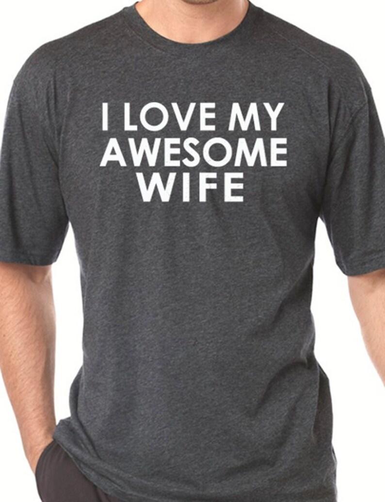 Bruiloft Cadeau Hou Ik Van Mijn Geweldige Vrouw Mens Tshirt Man Gift Vaders Dag Huwelijk Cadeau Shirt Cool