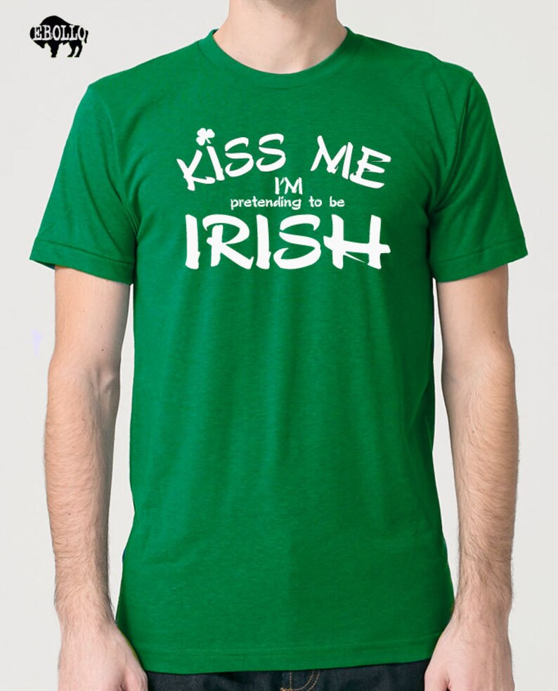 f9c356eb8a086 Kiss Me I'm IRISH Mens T shirt st Patrick's Day Husband Gift Funny Tshirt  Cool shirt Graphic Tees