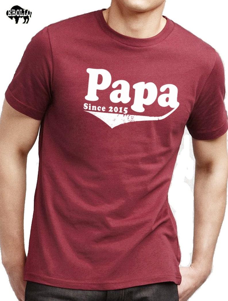 e91851d8 Father Day Gift Papa Since 2015 Papa Shirt Mens Shirt Husband   Etsy