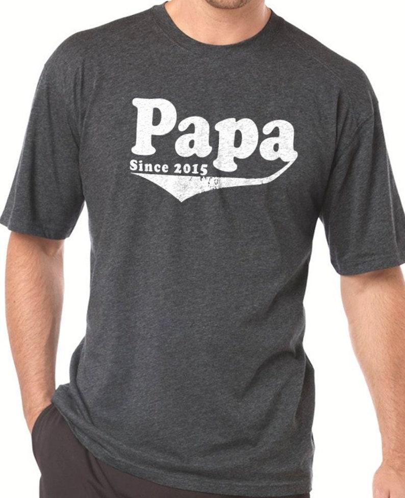 06996852a1 Fathers Day Gift Papa Shirt Papa Since 2015 Papa Gift Mens | Etsy