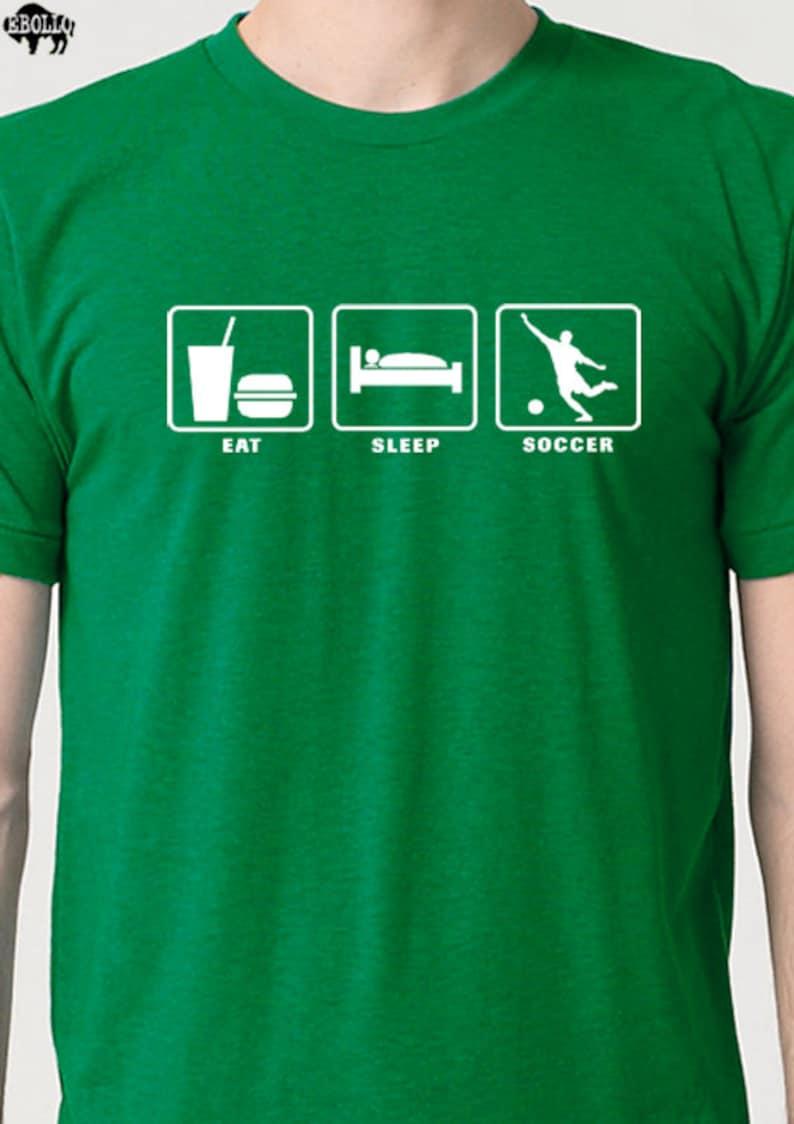8bd301b62 Soccer Shirt Eat Sleep SOCCER Mens T Shirt Fathers Day Gift | Etsy