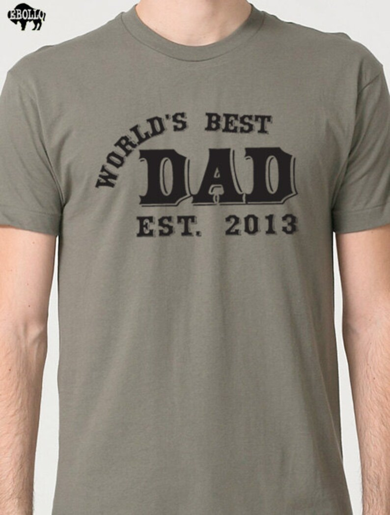 f46aabd37 Fathers Day Gift World's Best DAD T Shirt Mens t shirt | Etsy
