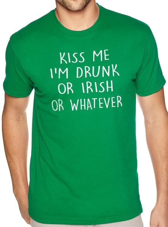 New Happy St Patricks Day Mens Irish Lucky Green Shamrock Black Neck #2