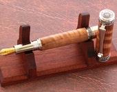Executive Fountain Pen Made From Asian Satinwood With Black Titanium Hardware