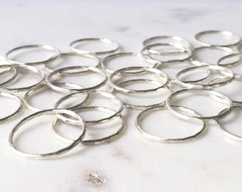 Simple sterling silver ring - Sterling silver band - midi ring - stacking ring - skinny ring