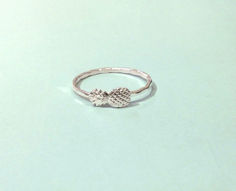 knuckle ring stacking ring skinny ring midi ring Pineapple ring Silver pineapple ring 925 ring Sterling silver pineapple ring