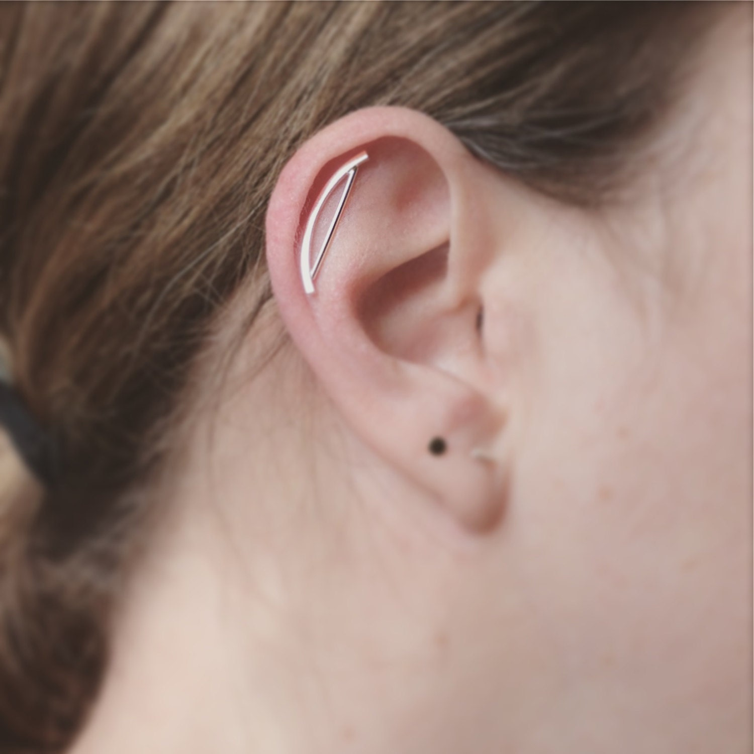 Arch Cartilage Earring Helix Earring Sterling Silver Edgy