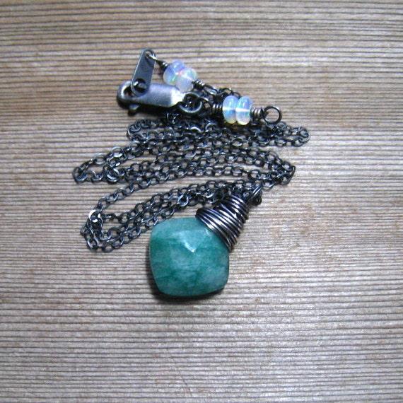 Brasilianische Smaragdschmuck geschliffenen Smaragd Halskette