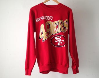 SAN FRANCISCO 49ers red and gold LARGE long sleeve shirt made in usa