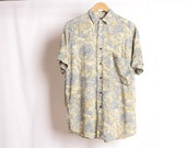 vintage SEINFELD style all over print 90s short sleeve shirt fresh prince size small VINTAGE men 39 s shirt