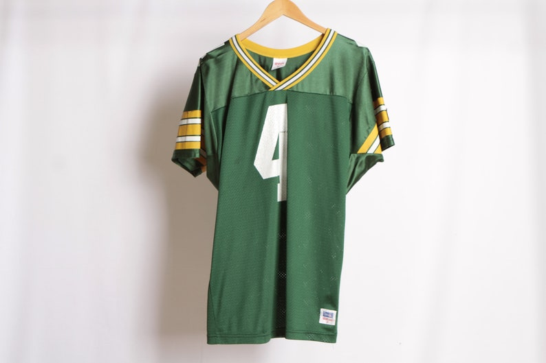 uk availability 66e1a ed215 vintage GREEN BAY PACKERS jersey nfl football 90s Brett Favre -- size Medium