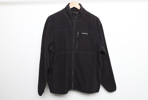vintage TIMBERLAND y2k black basic FLEECE jacket c